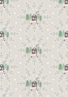 A Countryside Winter - Lewis & Irene Christmas Snowflakes, Christmas Fabric, Winter Christmas, Christmas Crafts, Ticking Stripe, Woodland Animals, Winter Collection, Irene, Countryside