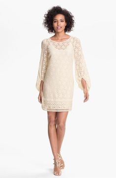 Laundry by Shelli Segal 'Sand Dollar' Lace Shift Dress (Petite) available at #Nordstrom
