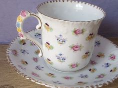Antique 1940's Royal Stafford with flower handle...how great is that handle.