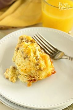 This Sour Cream Breakfast Casserole is one of the BEST yet! It is filled with layers of challah bread, breakfast sausage, eggs, and cheese, and it is a perfect make-ahead idea!