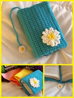 Crocheted SpringTime Book Cover by MadeWithLoveByGlama on Etsy, $15.00