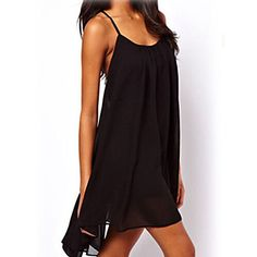 Casual Chiffon Purity Exotic Bohemian Style Straps Mini Sleeveless Dresses for Women Girl Ladies Floryday Dresses, Dresses For Work, Sleeveless Dresses, Black And Green Dress, Mini Party, Clubwear, Chiffon Dress, Bohemian Style, Hot