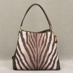 Coach Zebra Print Phoebe Shoulder Bag