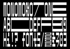 simonmager: MonoMono · Dark Side of Typography