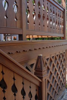 Like the detail on the horizontal board below the railing.