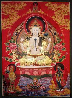 Tibetan Symbols, Tibetan Art, Tibetan Buddhism, Buddhism Symbols, Theravada Buddhism, Vajrayana Buddhism, Thangka Painting, Lotus, Buddha Art