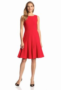 Looking for Calvin Klein Women's Sleeveless Solid Fit-and-Flare Dress ? Check out our picks for the Calvin Klein Women's Sleeveless Solid Fit-and-Flare Dress from the popular stores - all in one. Fit Flare Dress, Fit And Flare, Work Dresses For Women, Clothes For Women, Clothes Sale, Red Sleeveless Dress, Dress Red, 1920s Fashion Women, Calvin Klein Dress