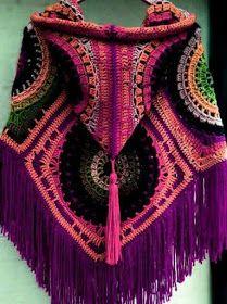 42 trendy crochet hat for women free hooks - Vintage Irish Crochet Dress, Coat, Blouse, Vintage Reproductions Crochet. Poncho Au Crochet, Beau Crochet, Pull Crochet, Crochet Hat For Women, Poncho Knitting Patterns, Crochet Jacket, Crochet Woman, Crochet Scarves, Free Crochet