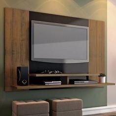 Mueble TV panel de pared Material Madera de Cerezo Acabado en