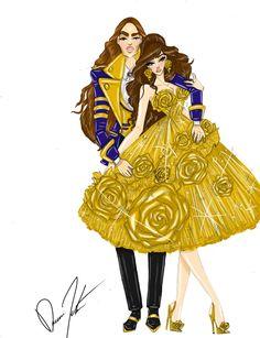 Disney Royals, Belle and Prince Adam by Daren J