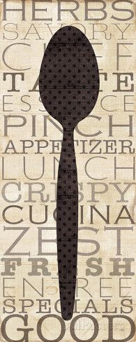 Kitchen Words II Prints by Jess Aiken at AllPosters.com