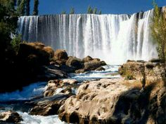 Located in Chile's Bío-Bío region, between Los Angeles and Chillán, the Salto del Laja, or Laja Falls, is a set of four waterfalls alo. Travel Around The World, Around The Worlds, Places To Travel, Places To Go, Waterfall Fountain, Fall Wallpaper, South America Travel, Heaven On Earth, Nature Photos