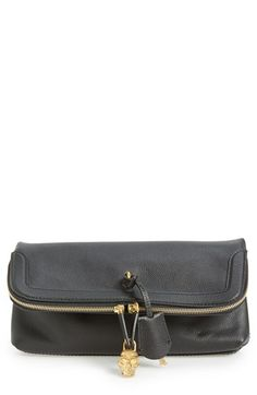 Look 3 - Alexander+McQueen+'Padlock'+Leather+Foldover+Clutch+available+at+#Nordstrom