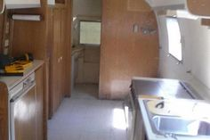 1967 Airstream trailer before makeover