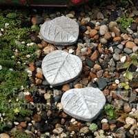 miniature concrete leaf stepping stones