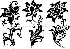 decorative floral pattern - Векторная графика  - пользователем Sau Kit Lai  (creative_stock) - Stockfresh #392696