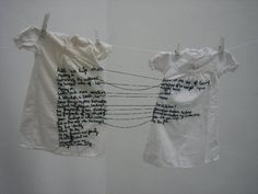 Aya Haidar 'The Stitch is Lost Unless the Thread is Knotted' (2008) A Level Art, Textile Artists, Art Plastique, Embroidery Art, Portrait Embroidery, Fabric Art, Installation Art, Oeuvre D'art, Textile Design