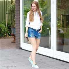 Sperry - groene bootschoenen | Outfit by: floortjeloves.com