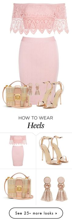 """2 Piece Dress & Basket Bag"" by majezy on Polyvore featuring Mark Cross, Nasty Gal and MANGO"