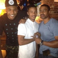 Trey Songz, his brother & father...wow