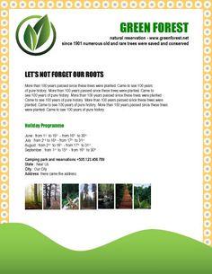 GREEN-FOREST-natural-reservation-flyer