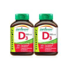 Jamieson Vitamin D3, 2 x 375