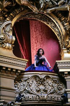 Le Opera, Paris Eva Green for Midnight Whispers, Dior. She looks like a gymnast about to vault over the side of that rail :D Eva Green, Paris France, Charles Garnier, Paris Opera House, Theater, Vintage Architecture, Amazing Architecture, Paris Mode, Dior Haute Couture