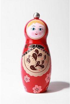 babushka pepper grinder - must have in honor of Babu