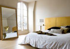Une chambre aux reflets d'or, bedroom, chambre, couleurs chambre