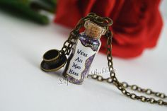 We're All Mad Here Magical Necklace with a Teacup Charm by LifeistheBubbles