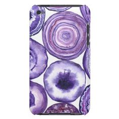 Violet agate pattern iPod touch Case-Mate case - pattern sample design template diy cyo customize