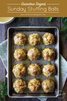 Grandma Dagen's Stuffing Balls Stuffing Balls Recipe, Stuffing Recipes, Turkey Recipes, Thanksgiving Recipes, Fall Recipes, Holiday Recipes, Thanksgiving Leftovers, Soup Recipes, Best Nutrition Food