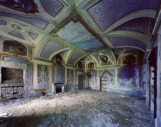 Abandoned Villa Livorno, Piedmont Region, Italy.
