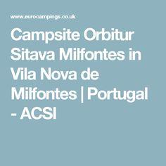 Campsite Orbitur Sitava Milfontes in Vila Nova de Milfontes | Portugal - ACSI
