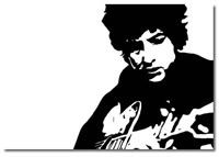 Bob Dylan canvas art pop art print