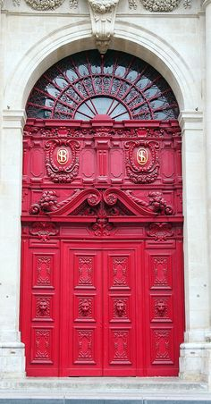 """""""Magestic [sic] Red Door,"""" by Patrick M. via Flickr -- From tags, this is in Paris, France."""