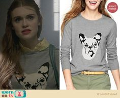 Lydia's grey dog sweater and yellow gingham shirt on Teen Wolf.  Outfit Details: https://wornontv.net/25872/ #TeenWolf