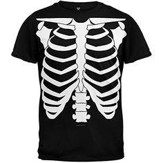 Halloween Skeleton Glow In The Dark Costume T-Shirt - Large