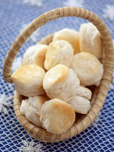 Flaky Appetizer Cream Cheese Biscuits from Southern Biscuits - by Nathalie Dupree and Cynthia Graubart