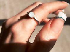 Mondstein Ring Silber natürlichen Stein Ring weißer von SimpleGem