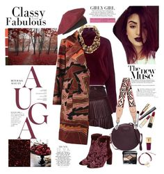 """Burgundy Style"" by ellie366 ❤ liked on Polyvore featuring Isabel Marant, Dolce&Gabbana, McQ by Alexander McQueen, Ashley Pittman, Alexandre Birman, Christian Dior, Valentino, Kate Spade, Just Cavalli and Leather"