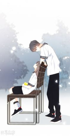 I believe that dreams come true because mine did when I met you. ❤❤❤❤ Welcome to free read the best romance stories on Anime Cupples, Fanarts Anime, Kawaii Anime, Anime Guys, Anime Characters, Cute Couple Art, Anime Love Couple, Anime Couples Drawings, Anime Couples Manga