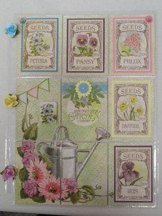 Spring Garden pocket letter
