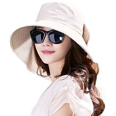 d53eef27391a UV Protection Sun Hats for Women Summer Gardening Fishing Hiking Travel  Shade Hat Wide Brim Packable Small Beige Siggi