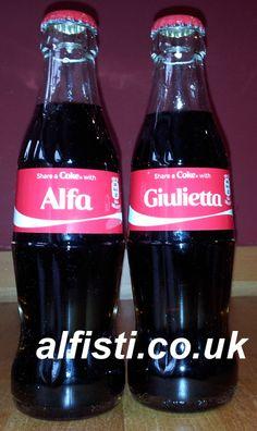 Alfa Giulietta Coke Bottles