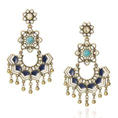 Golden Lotus Statement Earrings - Perfect day earrings or for a wedding!