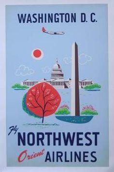 Vintage Washington DC Poster