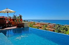 The blue waters outside of the Mita Residential - Punta Mita Villas in Mexico