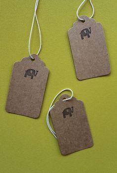 3 Stk. Anhänger / Label Vintage Pack «Elefant»