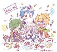 Akatsuki no Yona / Yona of the dawn anime and manga || Dragon warriors. Chibi. Green, Yellow, Blue, White, Ryokuryuu, Ouryuu, Seiryuu, Hakuryuu, Jaeha, Zeno, Shin ah, and Kija